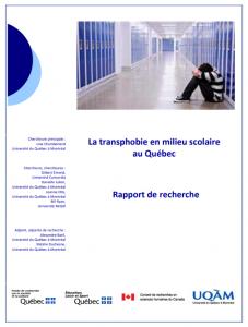 Première page du rapport