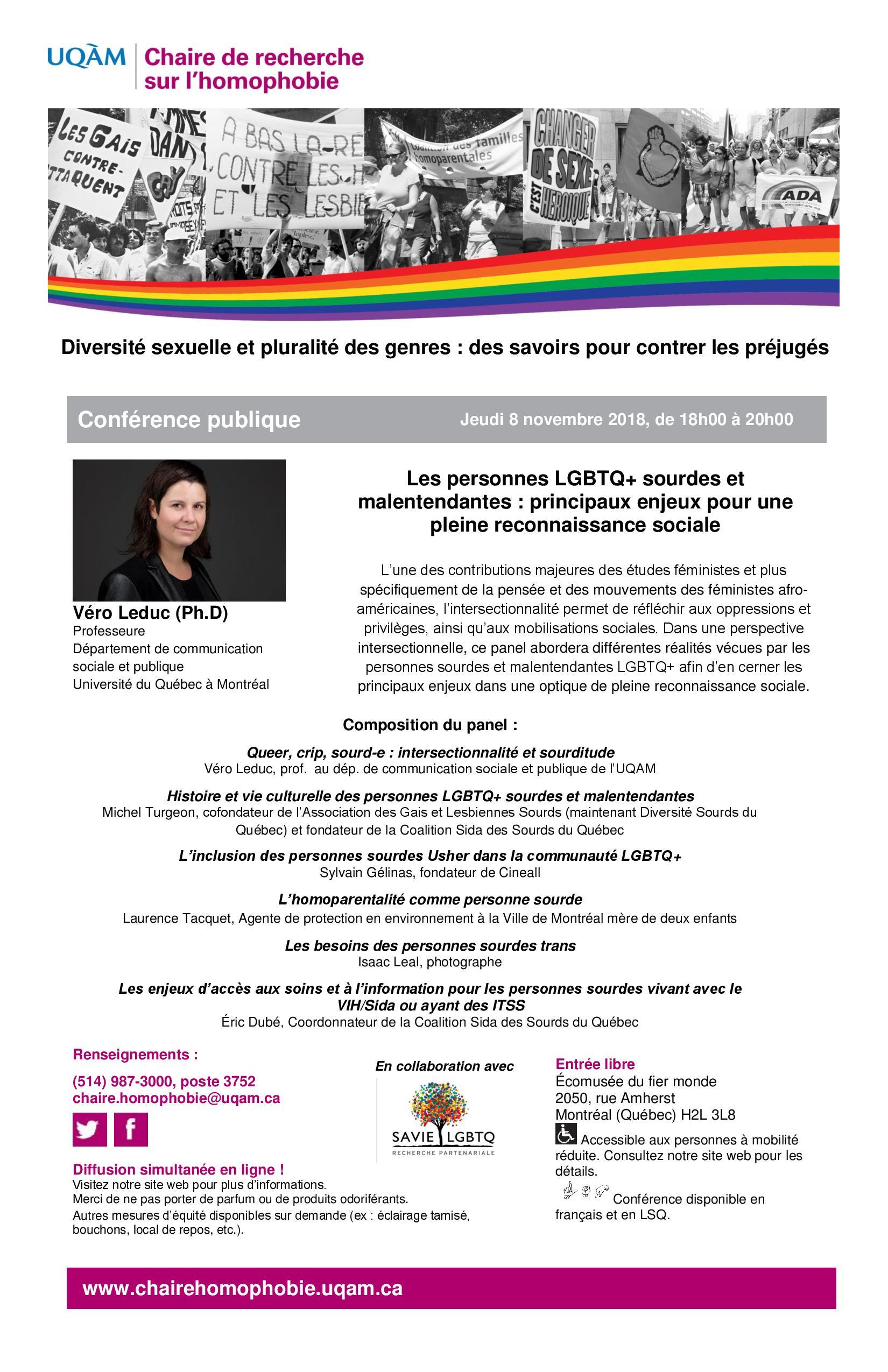 CONFÉRENCE PUBLIQUE | Les personnes LGBTQ+ sourdes et malentendantes : principaux enjeux pour une pleine reconnaissance sociale