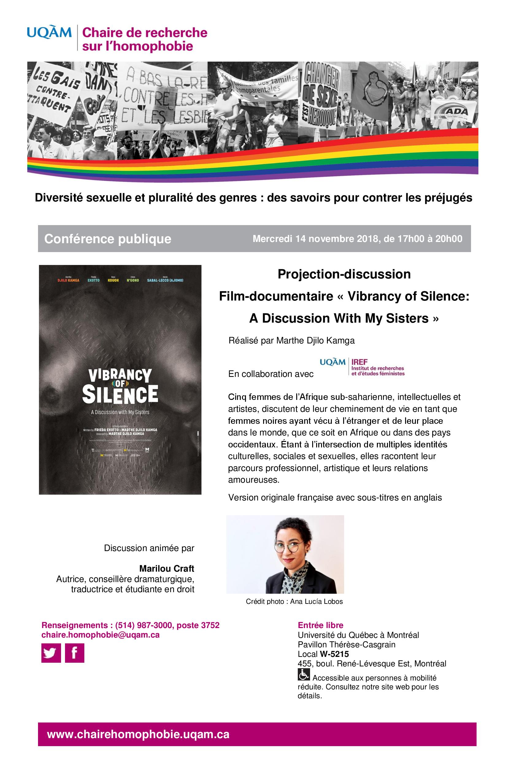 Projection-discussion | Film-documentaire « Vibrancy of Silence: A Discussion With My Sisters »