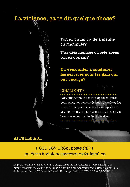 Appel à participation | « Comprendre la violence conjugale dans un contexte de séparation pour mieux intervenir : le cas des couples d'homme »
