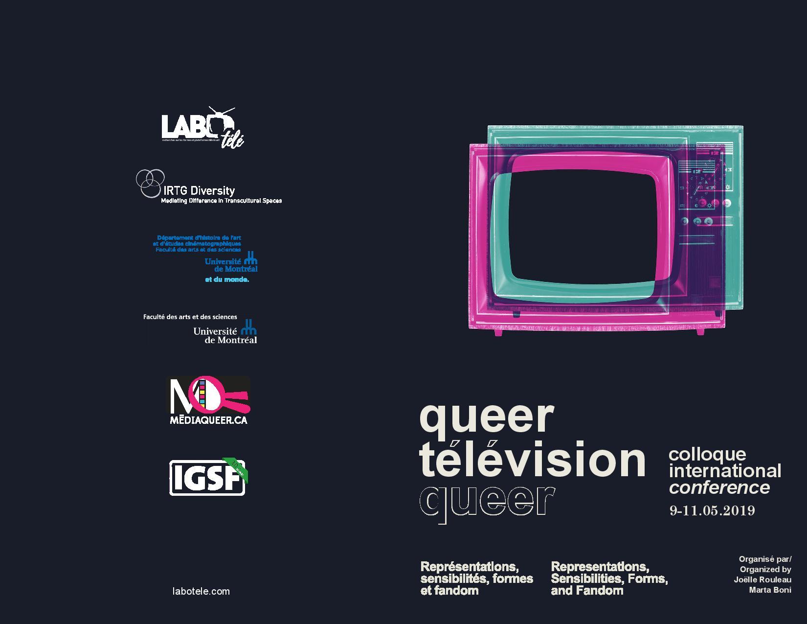 Colloque international Télévision Queer : Représentations, sensibilités, formes et fandom