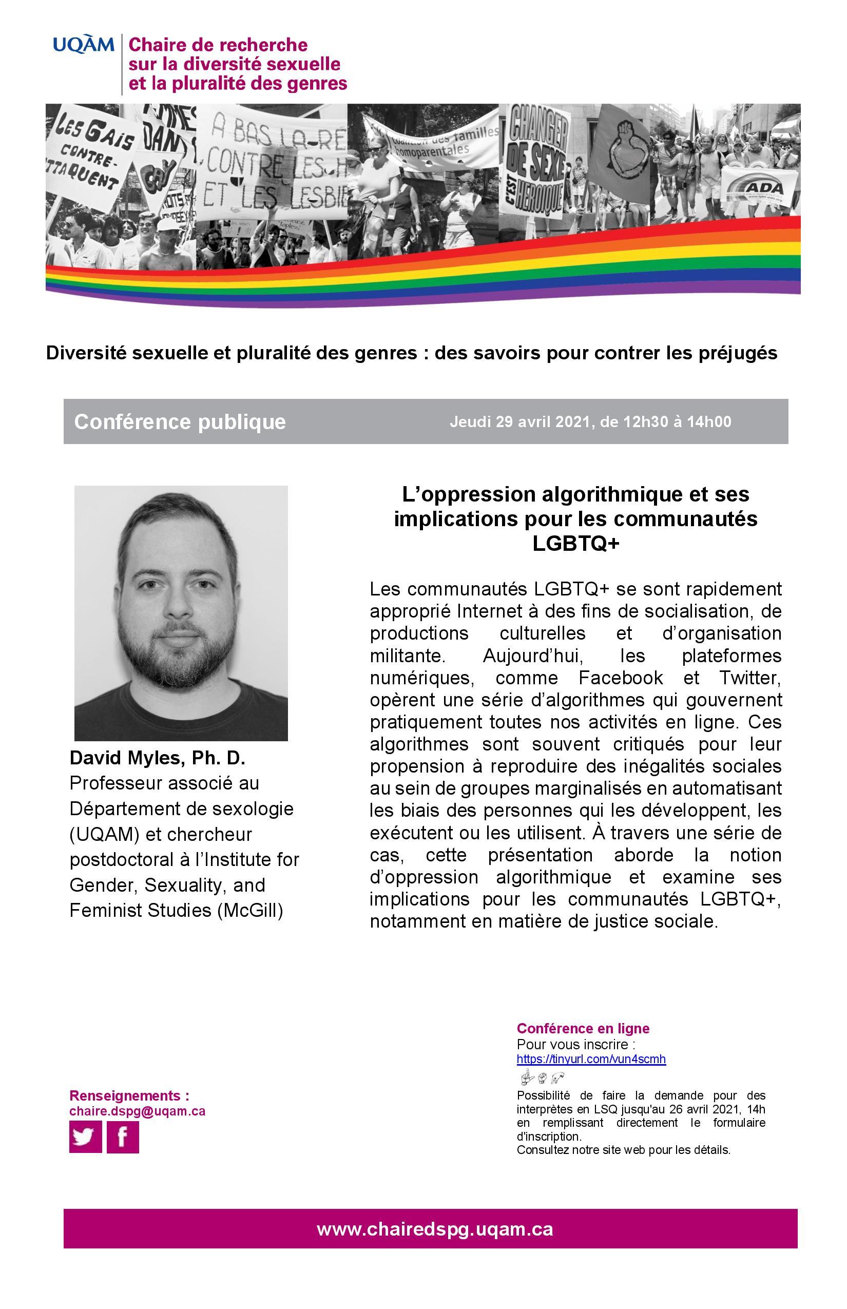 Conférence publique | L'oppression algorithmique et ses implications pour les communautés LGBTQ+